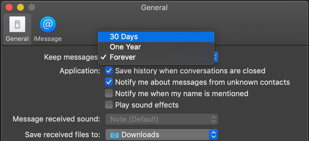 how to delete all message on mac